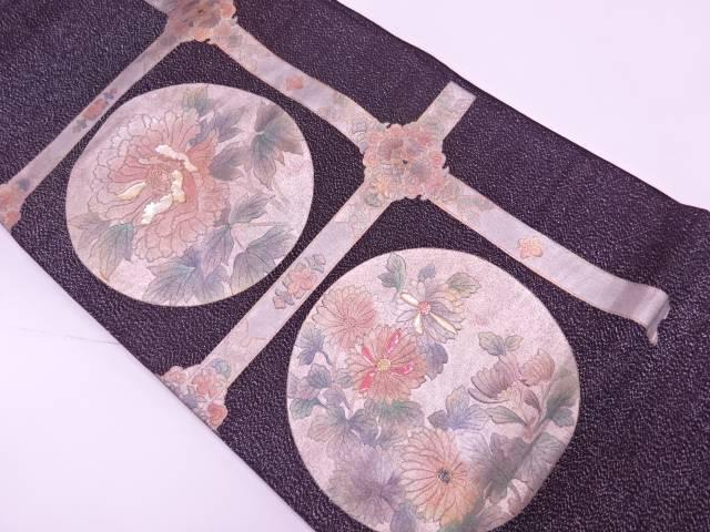 金彩螺鈿襷に牡丹・草花模様袋帯【リサイクル】【中古】【着】 宗sou
