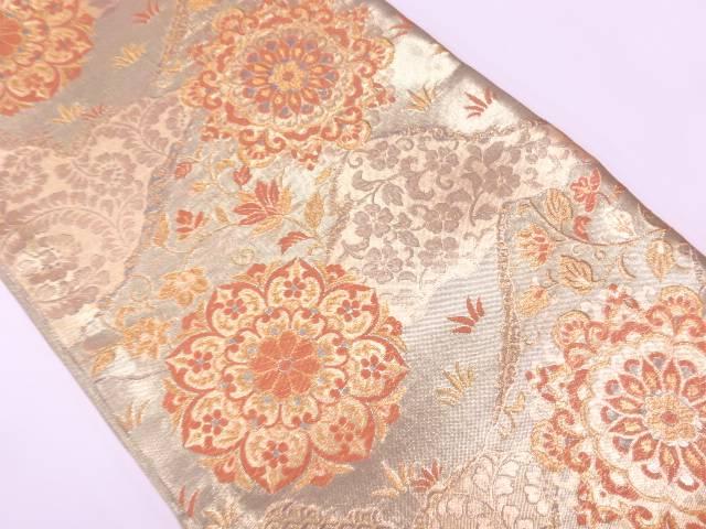 未使用品 華紋模様織出し袋帯(未仕立て)【リサイクル】【着】 宗sou