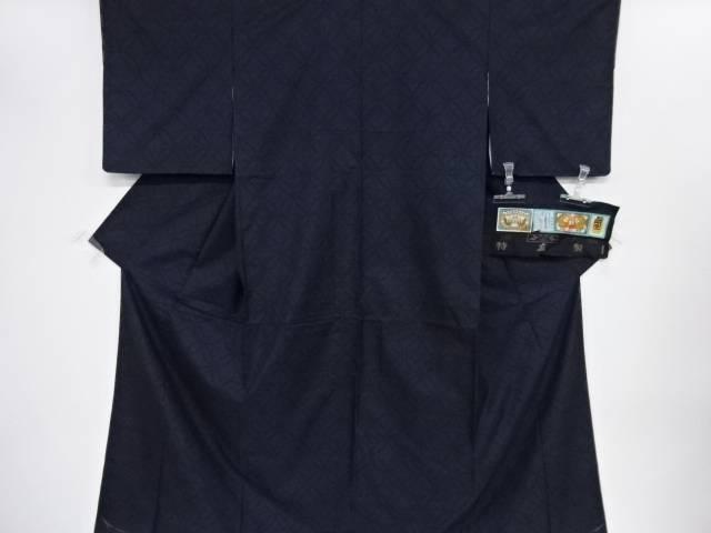 未使用品 仕立て上がり 七宝模様織り出し本場泥大島紬着物(7マルキ)【着】 宗sou