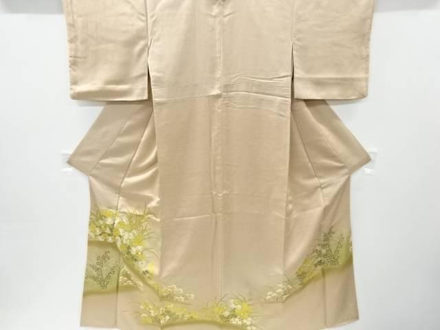 金彩秋草模様刺繍一つ紋色留袖(重ね衿付き)【リサイクル】【中古】【着】 宗sou