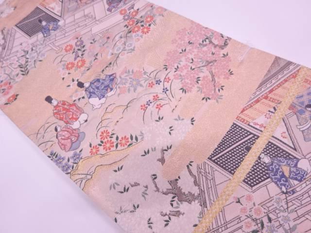 未使用品 時代人物風景模様織出し袋帯【リサイクル】【着】 宗sou