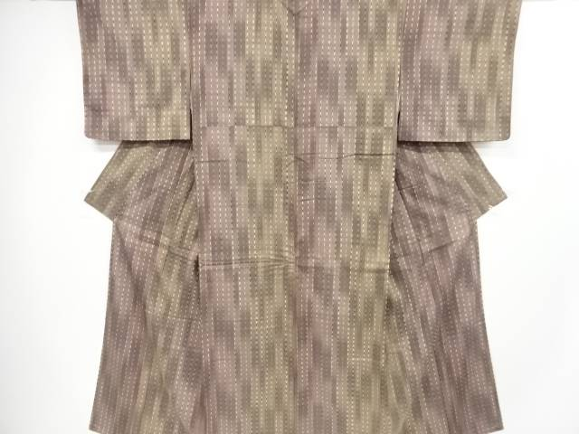 未使用品 板締め絞り縞模様節紬着物【リサイクル】【着】 宗sou