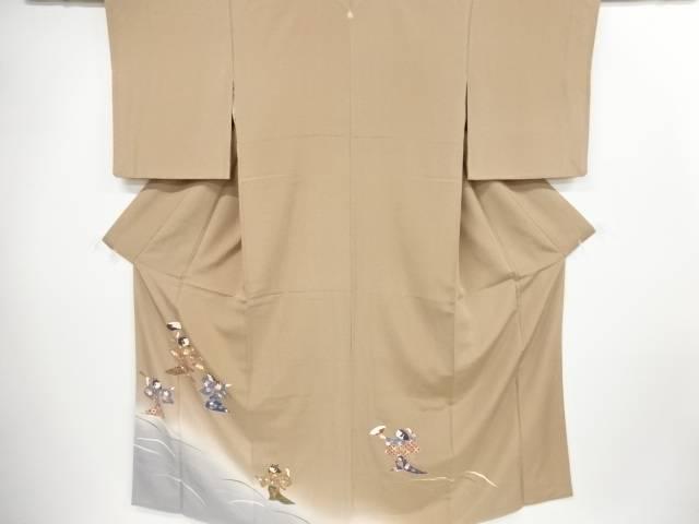手描き友禅芝草に童女模様一つ紋色留袖【リサイクル】【中古】【着】 宗sou