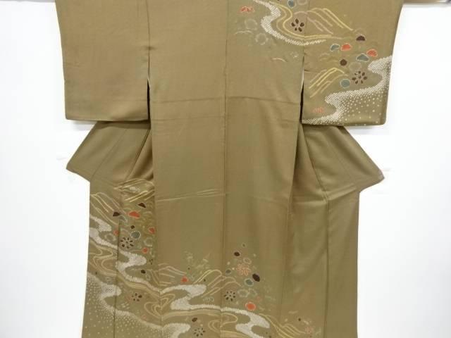 絞り流水に松牡丹模様訪問着【リサイクル】【中古】【着】 宗sou