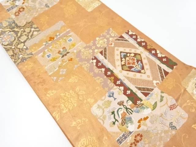 金糸花鳥更紗模様織り出し袋帯【リサイクル】【中古】【着】 宗sou