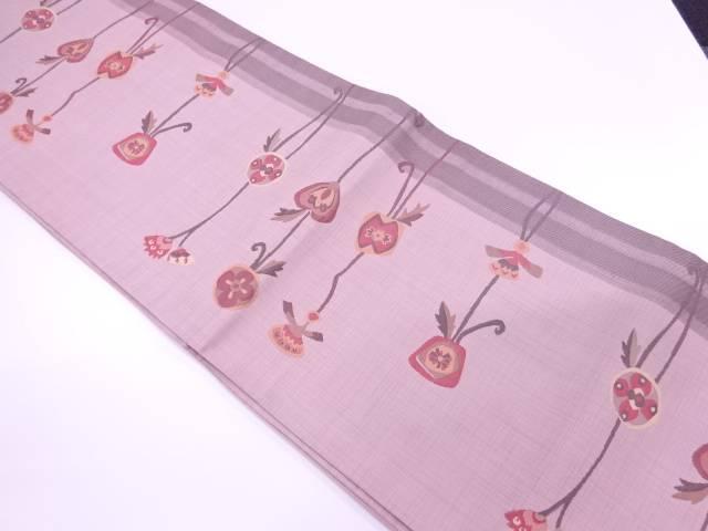 未使用品 抽象草花模様織出し袋帯【リサイクル】【着】 宗sou