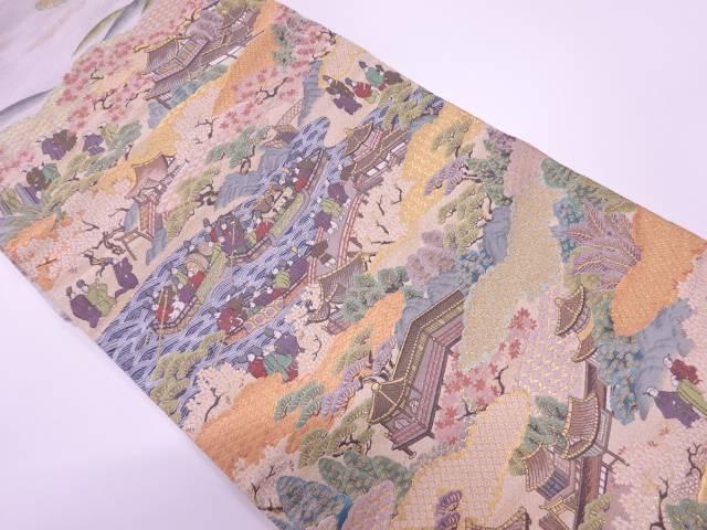 洛西絵図織出し袋帯【リサイクル】【中古】【着】 宗sou