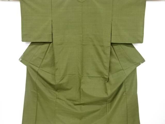 未使用品 仕立て上がり 手織り真綿紬単衣着物【着】 宗sou