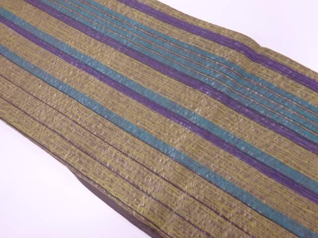 縞模様織出し袋帯【リサイクル】【中古】【着】 宗sou