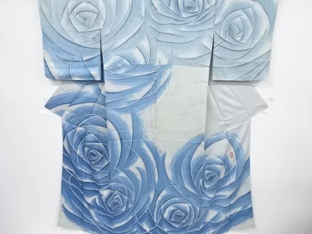 三浦恭示作 抽象薔薇模様訪問着【リサイクル】【中古】【着】 宗sou