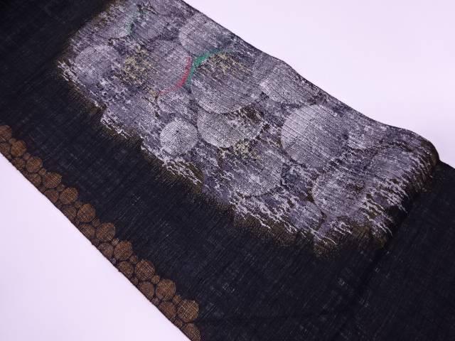渡文製 抽象模様織出し夏用袋帯【リサイクル】【中古】【着】 宗sou