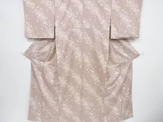 未使用品 仕立て上がり 桜模様小紋着物【着】 宗sou