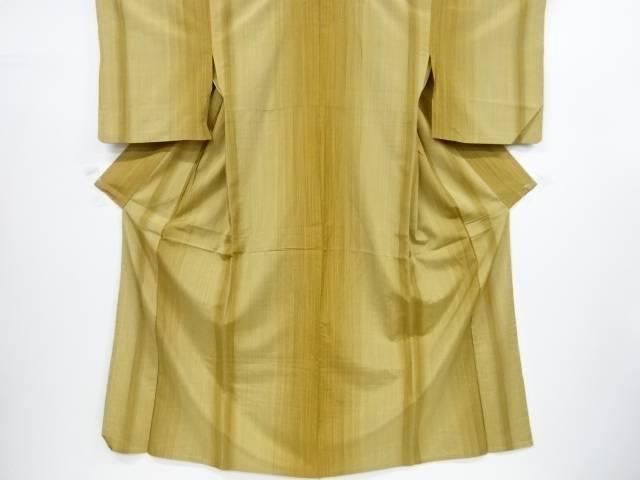 縞織出手織り紬単衣着物【リサイクル】【中古】【着】 宗sou