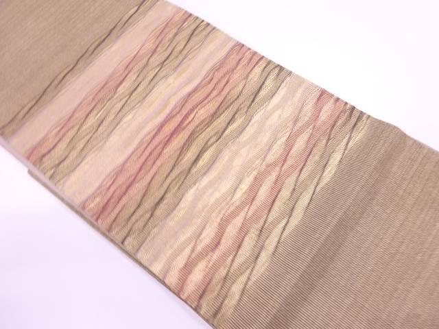 スピード対応 全国送料無料 茶道具 茶道 着物 日本最大級の品揃え 変わり横段模様織出し袋帯 着 宗sou 中古 リサイクル
