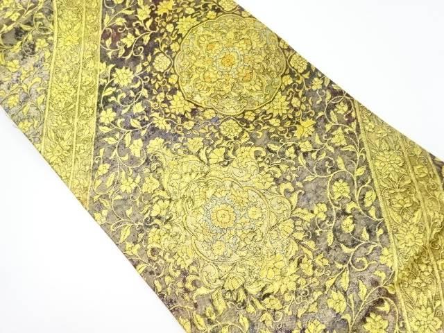 華紋更紗模様織り出し袋帯【リサイクル】【中古】【着】 宗sou