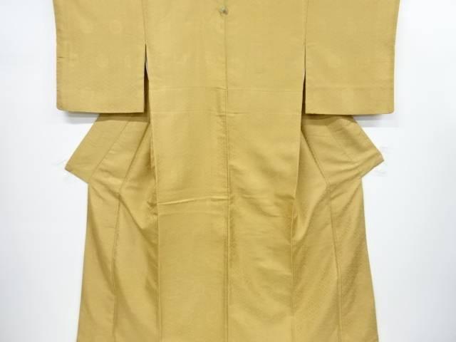 寿光織華紋に小葵模様織り出し一つ紋色無地着物【リサイクル】【中古】【着】 宗sou