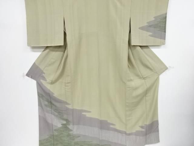未使用品 仕立て上がり 霞模様一つ紋単衣訪問着【着】 宗sou