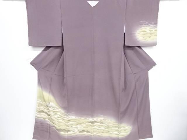 未使用品 仕立て上がり 金彩雲海に富士模様一つ紋訪問着【着】 宗sou