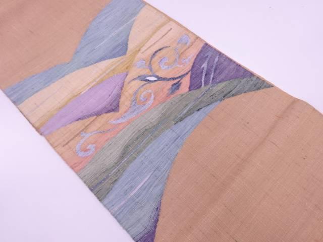 唐草模様織出し袋帯【リサイクル】【中古】【着】 宗sou