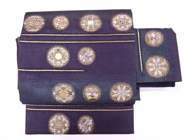 金彩螺鈿華紋模様織出し作り帯【リサイクル】【中古】【着】 宗sou