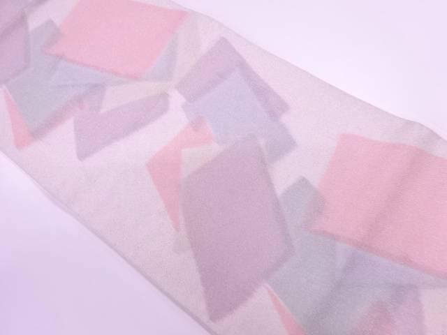 未使用品 正和製 真砂綴れ色紙模様全通袋帯(未仕立て)【リサイクル】【着】 宗sou