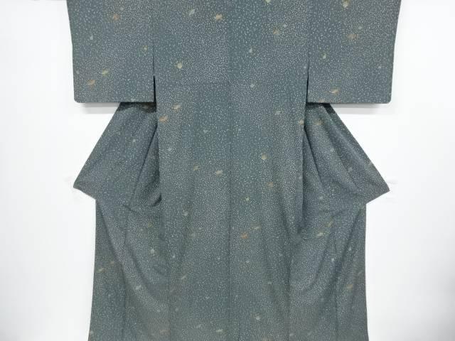 金彩のり散らしに宝尽くし模様一つ紋小紋着物【リサイクル】【中古】【着】 宗sou