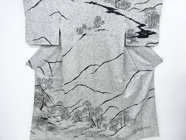 作家物 遠山に木立模様訪問着【リサイクル】【中古】【着】 宗sou