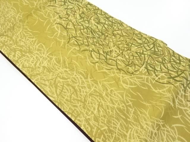 未使用品 葉尽くし模様織り出しリバーシブル袋帯【リサイクル】【着】 宗sou