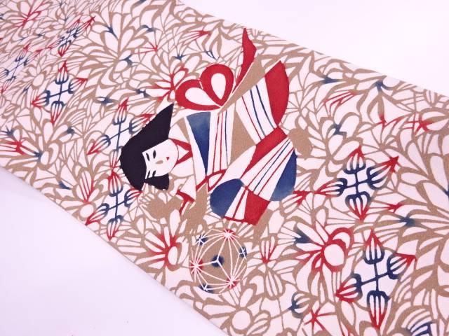鞠遊び模様袋帯【リサイクル】【中古】【着】 宗sou