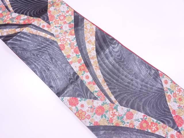 モール草花模様織出し振袖用袋帯【リサイクル】【中古】【着】 宗sou
