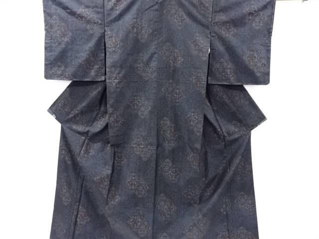 未使用品 菱華紋織り出し本場泥大島紬着物アンサンブル【リサイクル】【着】 宗sou