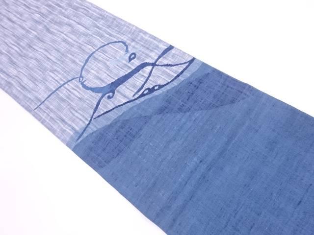 すくい織抽象枝花模様織出し夏用紬袋帯【リサイクル】【中古】【着】 宗sou