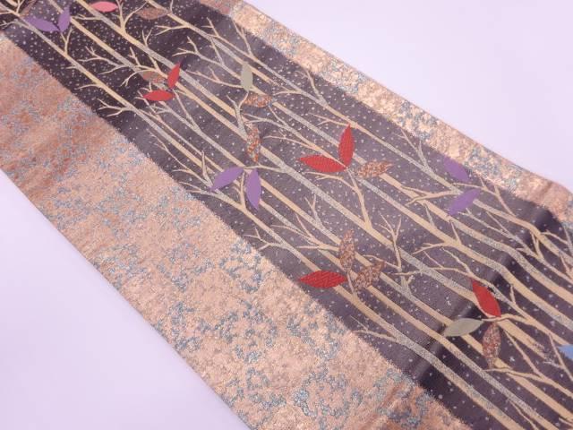 樹木模様織出し袋帯【リサイクル】【中古】【着】 宗sou