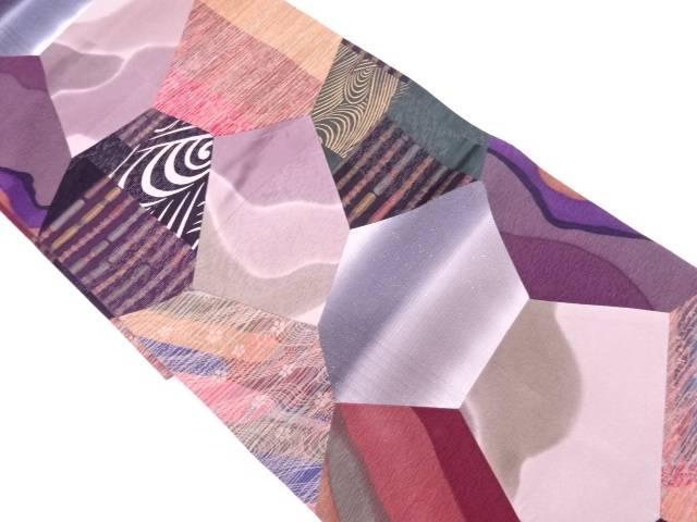 切嵌に抽象模様全通袋帯【リサイクル】【中古】【着】 宗sou