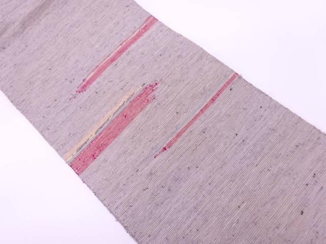 紙布抽象模様織出し名古屋帯【リサイクル】【中古】【着】 宗sou