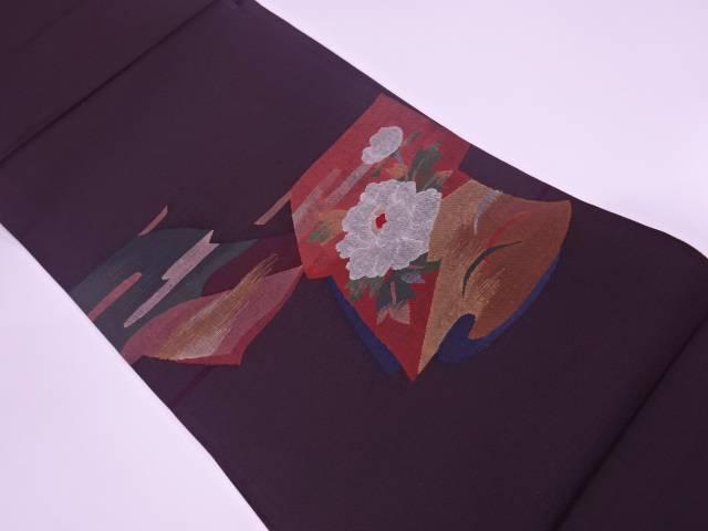 未使用品 すくい織草花に山並み模様織出し袋帯【リサイクル】【着】 宗sou
