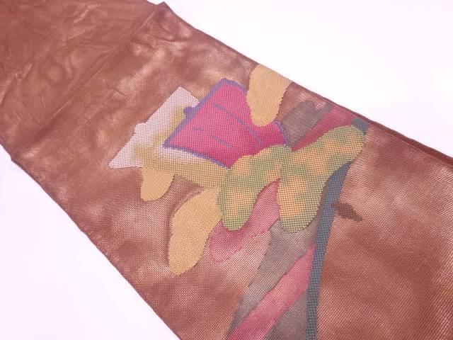 紗 笠松に帆模様織出し袋帯【リサイクル】【中古】【着】 宗sou