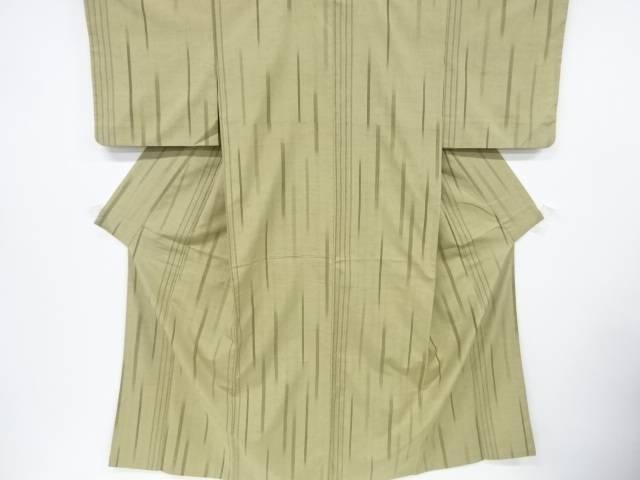 変わり縞模様織出手織り真綿紬着物【リサイクル】【中古】【着】 宗sou
