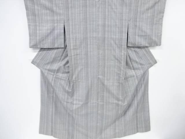 縞模様織出手織り真綿紬着物(高島屋)【リサイクル】【中古】【着】 宗sou