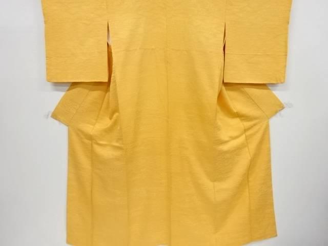 流水・波模様織り出し一つ紋色無地着物【リサイクル】【中古】【着】 宗sou