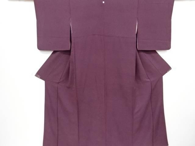 紗綾型模様織り出し一つ紋色無地着物【リサイクル】【中古】【着】 宗sou
