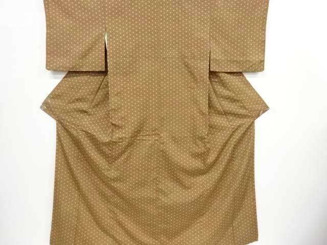 七宝に梅鉢模様織り出し暈しお召着物【リサイクル】【中古】【着】 宗sou