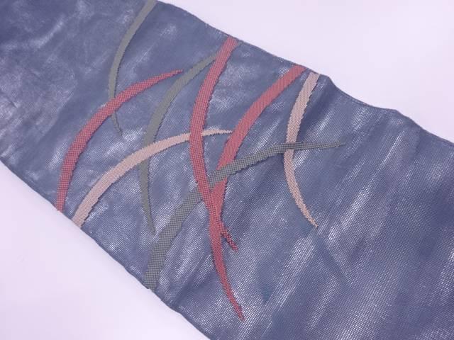 紗 芝草模様刺繍袋帯【リサイクル】【中古】【着】 宗sou