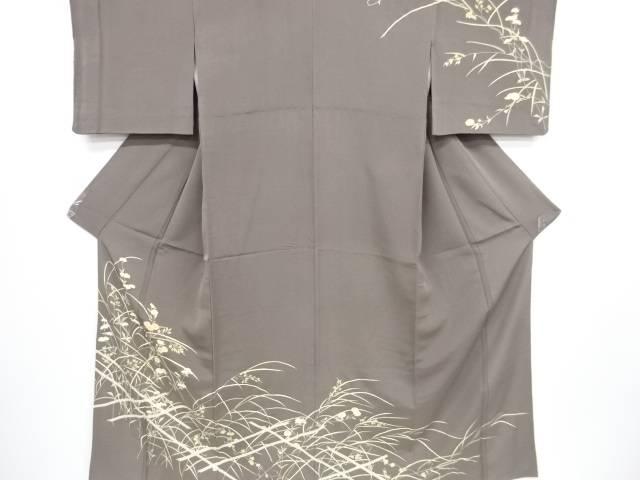 金彩友禅菊に女郎花蔦の葉模様刺繍一つ紋訪問着【リサイクル】【中古】【着】 宗sou