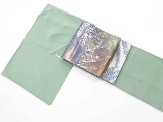 草木染一つ紋色無地着物 袋帯セット【リサイクル】【中古】【着】 宗sou