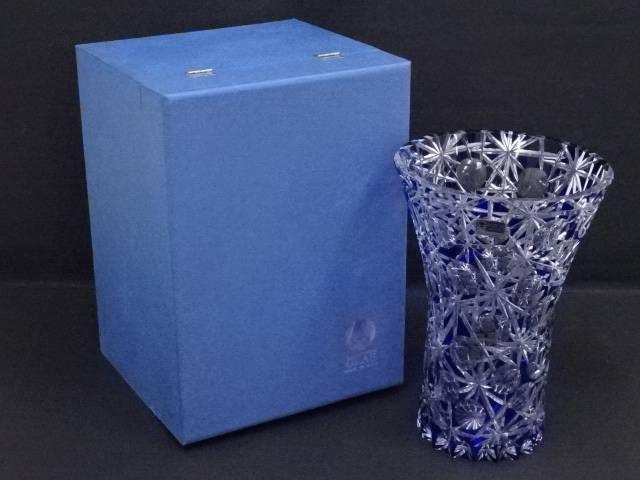 Dresden Kristall ドレスデンクリスタル カットガラス花瓶【中古】【道】 宗sou