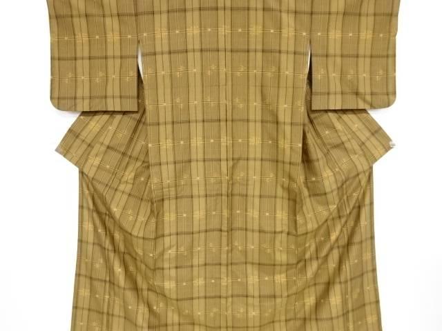 本場琉球絣手織り紬着物【リサイクル】【中古】【着】 宗sou