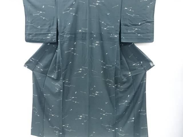 絽煙管に桜模様小紋着物【リサイクル】【中古】【着】 宗sou