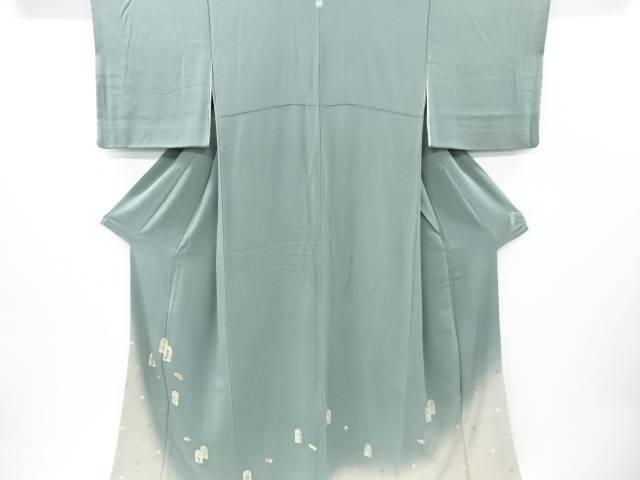 松尾光琳作 本金箔「新波の舞」刺繍一つ紋色留袖(比翼付き)【リサイクル】【中古】【着】 宗sou