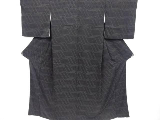 絞り変わり横段模様小紋着物【リサイクル】【中古】【着】 宗sou